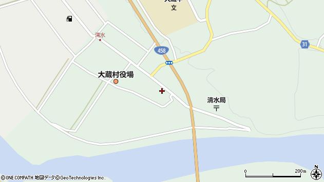 山形県最上郡大蔵村清水2561周辺の地図