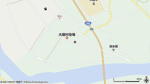 山形県最上郡大蔵村清水2540周辺の地図