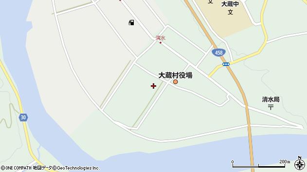 山形県最上郡大蔵村清水2346周辺の地図