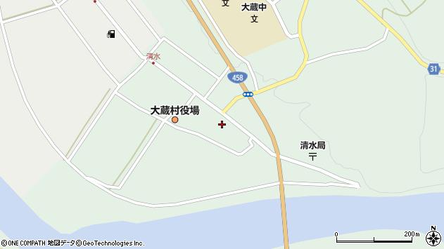 山形県最上郡大蔵村清水2548周辺の地図