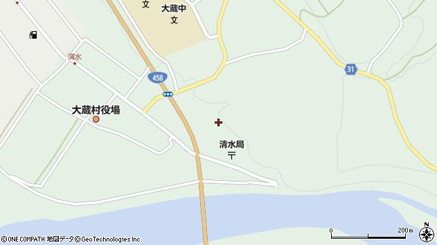 山形県最上郡大蔵村清水3489周辺の地図