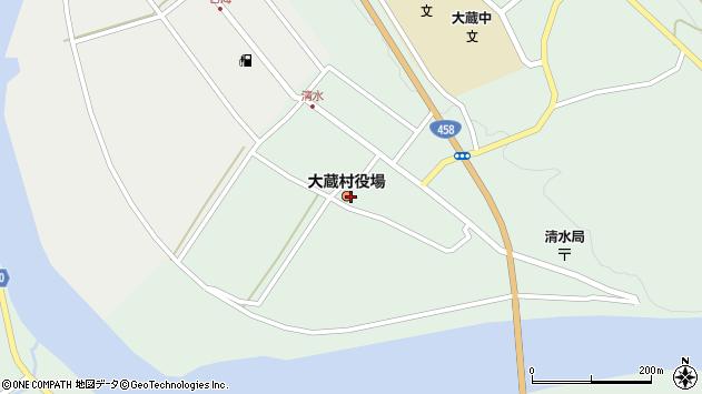 山形県最上郡大蔵村清水2528周辺の地図