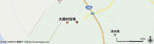 山形県最上郡大蔵村清水2605周辺の地図