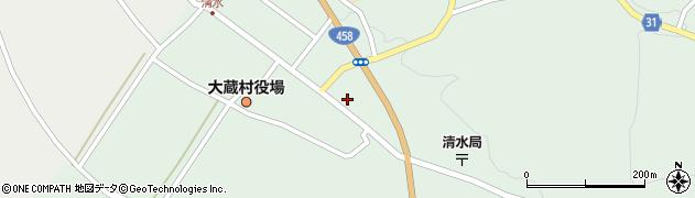 山形県最上郡大蔵村清水2575周辺の地図