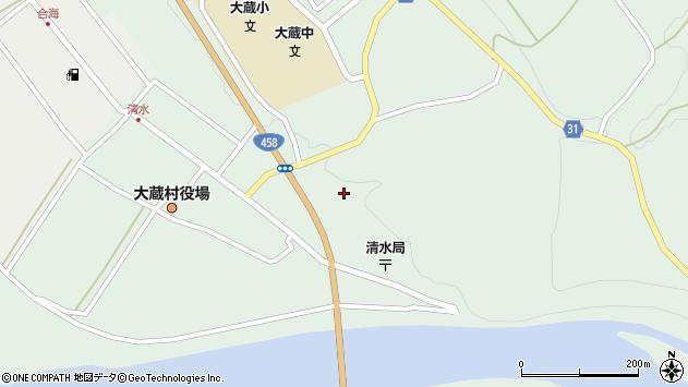 山形県最上郡大蔵村清水4098周辺の地図