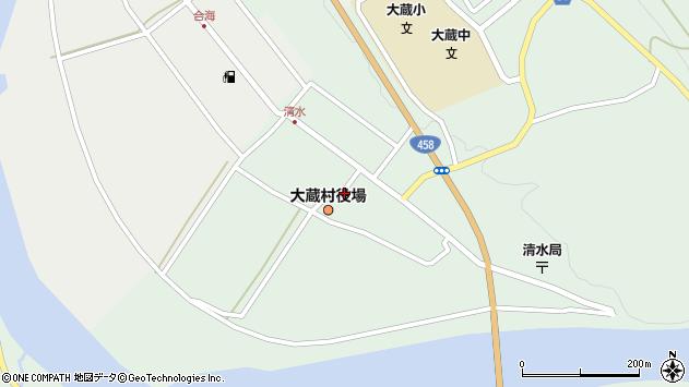 山形県最上郡大蔵村清水2530周辺の地図