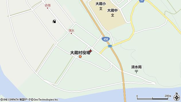 山形県最上郡大蔵村清水2537周辺の地図