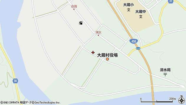 山形県最上郡大蔵村清水2452周辺の地図