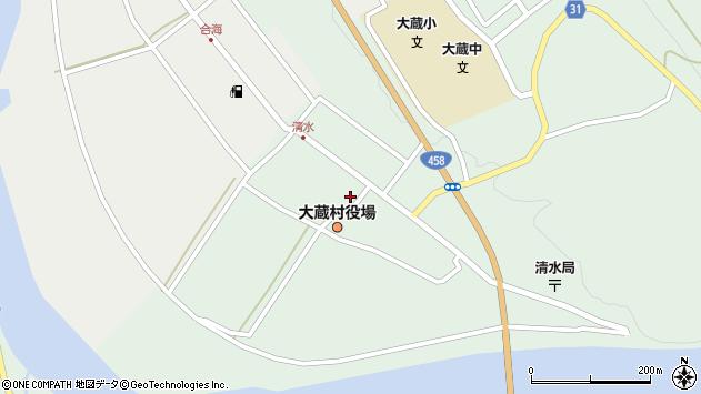 山形県最上郡大蔵村清水2525周辺の地図