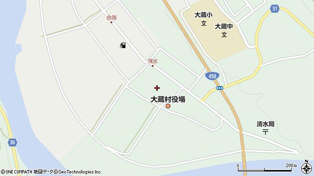 山形県最上郡大蔵村清水2830周辺の地図