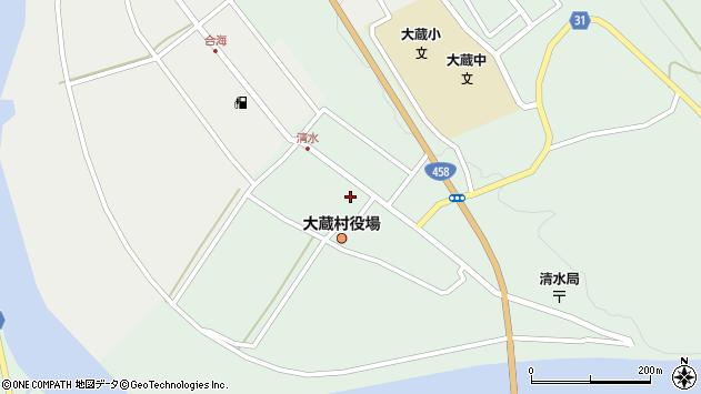 山形県最上郡大蔵村清水2524周辺の地図