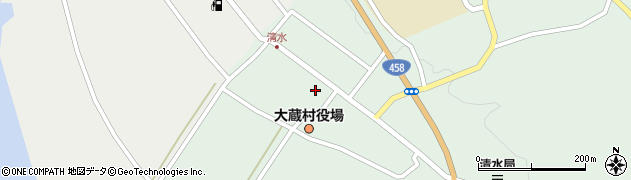 山形県最上郡大蔵村清水周辺の地図