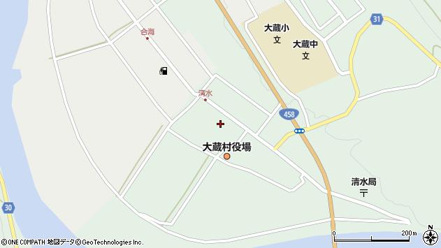 山形県最上郡大蔵村清水2520周辺の地図