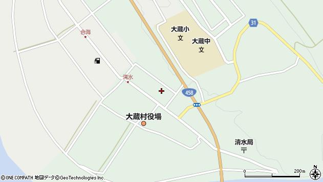 山形県最上郡大蔵村清水2591周辺の地図