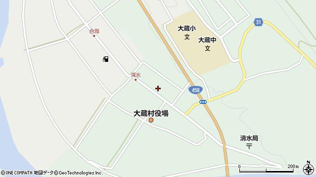 山形県最上郡大蔵村清水2593周辺の地図