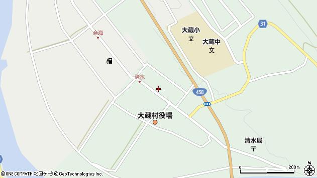 山形県最上郡大蔵村清水2595周辺の地図