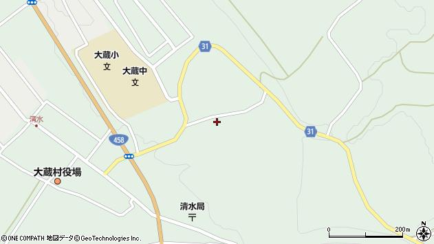 山形県最上郡大蔵村清水4019周辺の地図