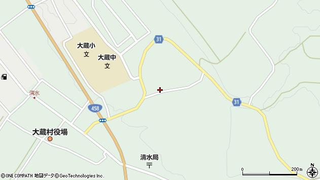 山形県最上郡大蔵村清水2514周辺の地図