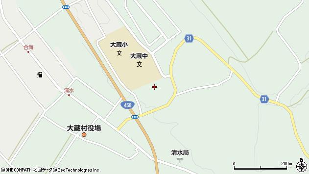 山形県最上郡大蔵村清水清水周辺の地図