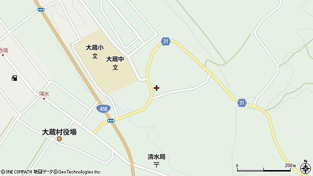 山形県最上郡大蔵村清水2726周辺の地図