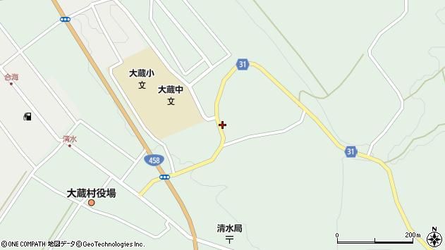 山形県最上郡大蔵村清水2516周辺の地図