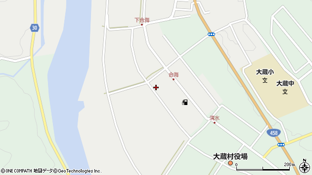 山形県最上郡大蔵村清水2493周辺の地図