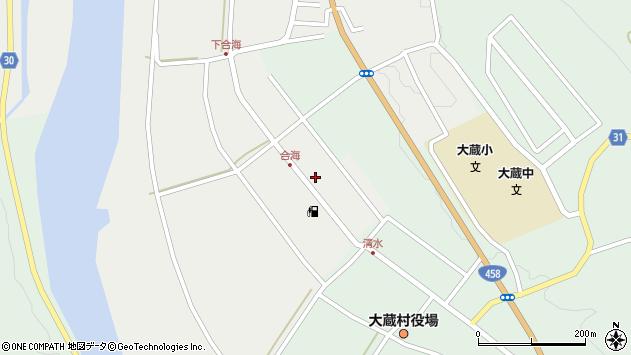 山形県最上郡大蔵村合海37周辺の地図