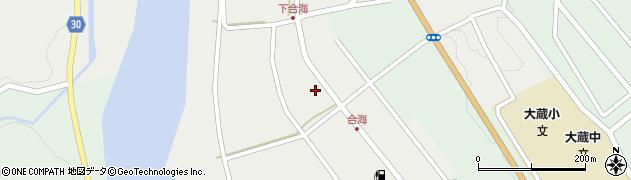 山形県最上郡大蔵村合海75周辺の地図