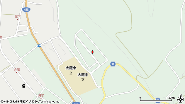 山形県最上郡大蔵村清水3427周辺の地図