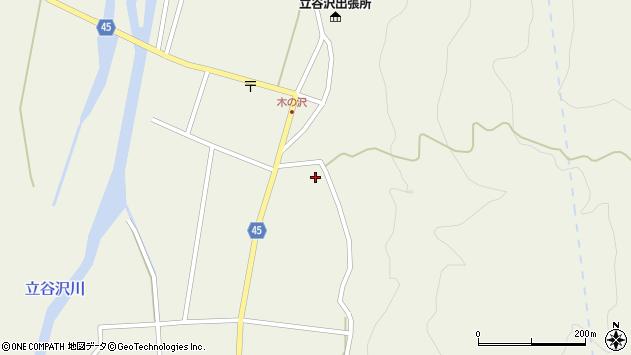 山形県東田川郡庄内町肝煎水沢口周辺の地図