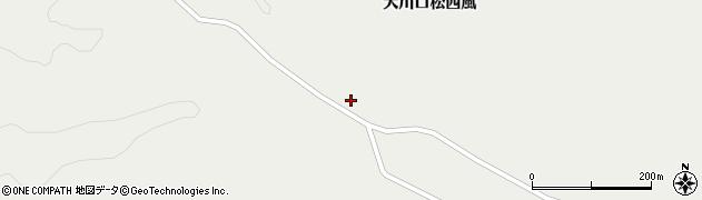 宮城県栗原市一迫大川口松西風周辺の地図