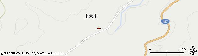 宮城県栗原市一迫上大土周辺の地図