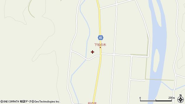山形県東田川郡庄内町肝煎下田11周辺の地図