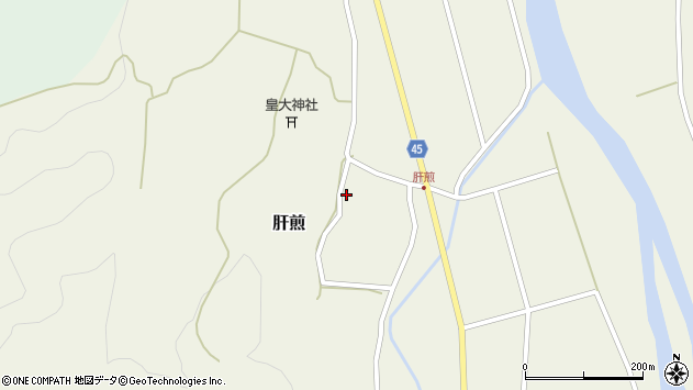 山形県東田川郡庄内町肝煎宮ノ前2周辺の地図