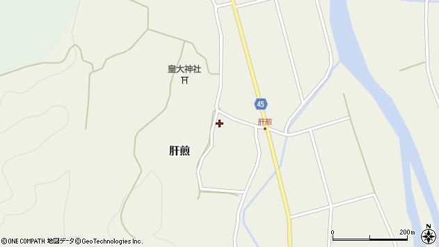 山形県東田川郡庄内町肝煎宮ノ前3周辺の地図
