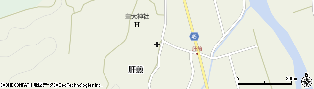 山形県東田川郡庄内町肝煎宮ノ前6周辺の地図