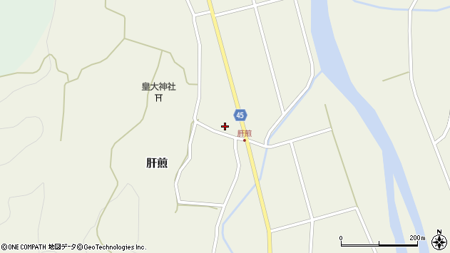 山形県東田川郡庄内町肝煎宮ノ前11周辺の地図