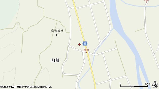 山形県東田川郡庄内町肝煎宮ノ前12周辺の地図