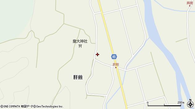 山形県東田川郡庄内町肝煎宮ノ前9周辺の地図