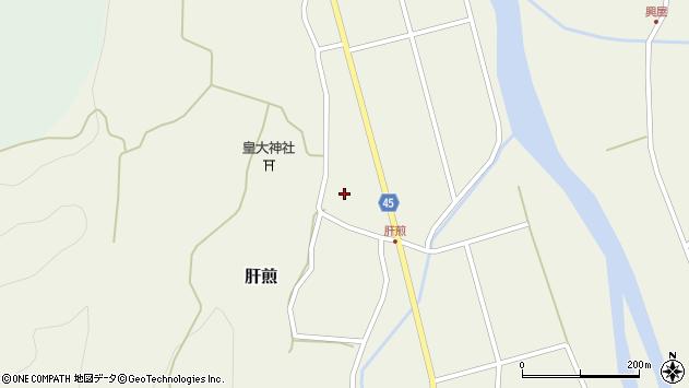 山形県東田川郡庄内町肝煎宮ノ前10周辺の地図