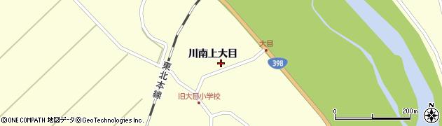 宮城県栗原市若柳川南上大目周辺の地図