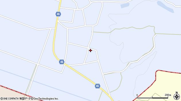 山形県東田川郡庄内町三ケ沢白山口50周辺の地図
