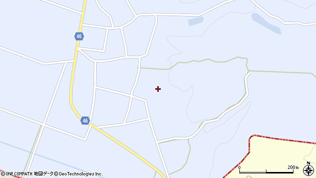 山形県東田川郡庄内町三ケ沢白山口48周辺の地図