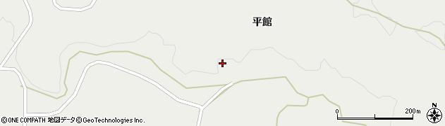 宮城県栗原市一迫平館周辺の地図