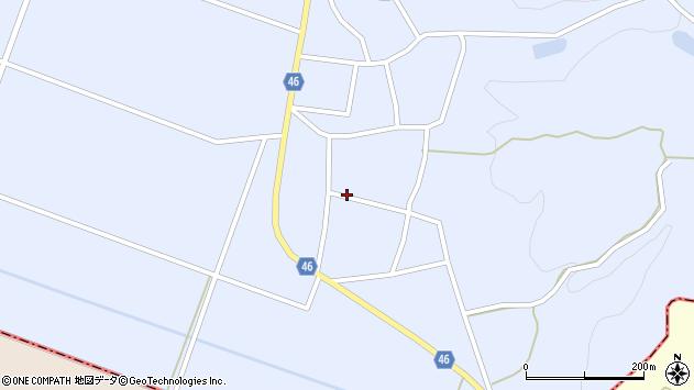山形県東田川郡庄内町三ケ沢堰南周辺の地図