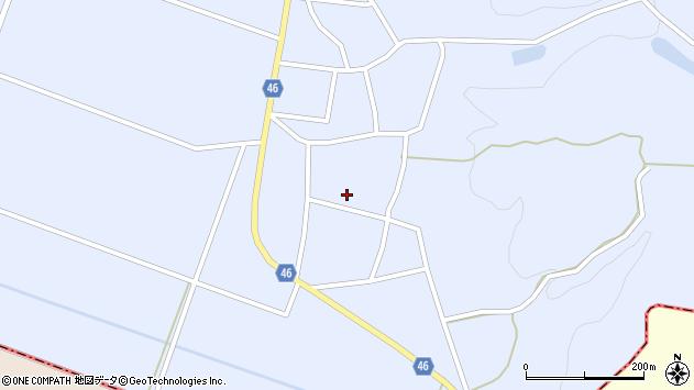 山形県東田川郡庄内町三ケ沢堰南20周辺の地図