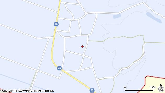 山形県東田川郡庄内町三ケ沢堰南8周辺の地図