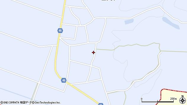 山形県東田川郡庄内町三ケ沢堰南9周辺の地図