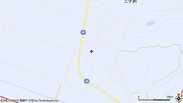 山形県東田川郡庄内町三ケ沢堰南42周辺の地図