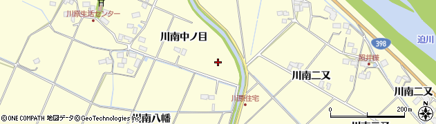宮城県栗原市若柳川南中ノ目周辺の地図
